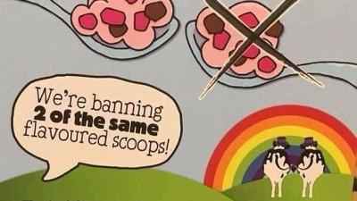 Înghețata care militează pentru drepturile LGBT