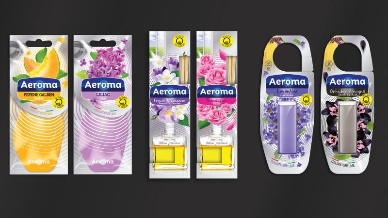 Ambalajele Aeroma, redesenate de Ampro, premiate la American Design Awards 2017