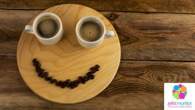 Cele mai vizibile branduri de cafea in online si pe Facebook in luna aprilie 2017