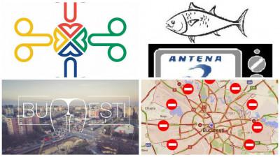 Logo-uri alternative pentru București