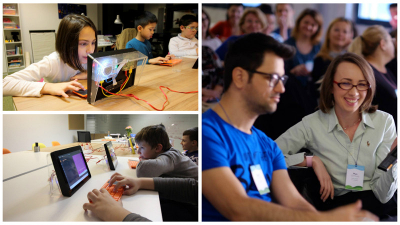 [#GrowUp, versiunea reală] Mya și Sorin Țărmure spun povești tech copiilor de la Small Academy