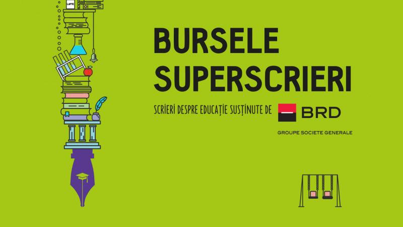 Modele de reformare a școlii românești - Bursele Superscrieri/BRD oferă 6.000 de euro pentru proiecte jurnalistice despre educaţie