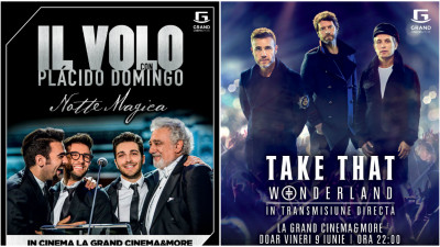 Il Volo și Take That, numai la Grand Cinema & More