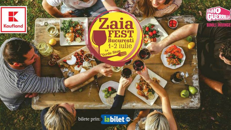 ZAIAFEST: Ospat cu vinuri romanesti si bucate alese, sambata si duminica la Verde Stop