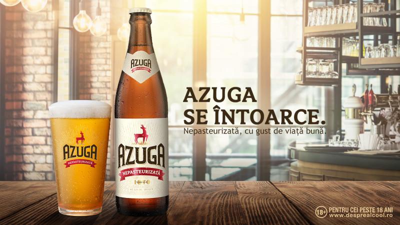 Noua identitate vizuală a berii Azuga a fost realizată de agenția Kubis
