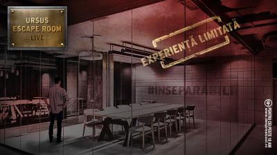 URSUS și Kubis lansează singurul escape room din lume transmis și controlat online