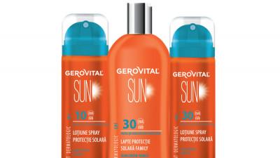 Farmec extinde gama Gerovital Sun cu 3 noi produse în ambalaje speciale