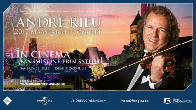 André Rieu și Orchestra Johann Strauss, un concert aniversar transmis la Grand Cinema & More