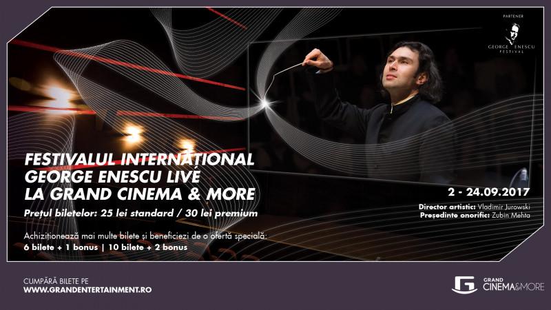 Emoția Festivalului Internațional George Enescu, trăită în sălile Grand Cinema & More