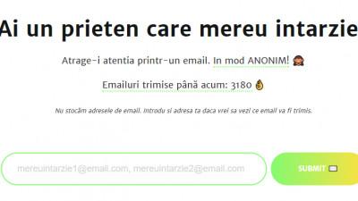 Trimite un mail anonim unui prieten care intarzie mereu