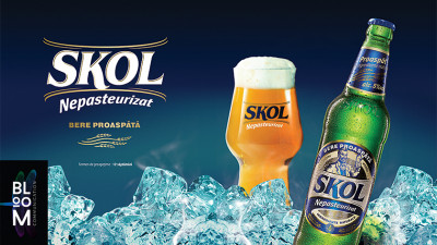 Bloom Communication a creat packaging-ul pentru noua bere Skol Nepasteurizata