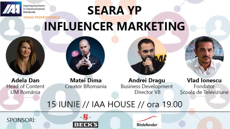 IAA Young Professionals România organizează Seara YP: Influencer Marketing