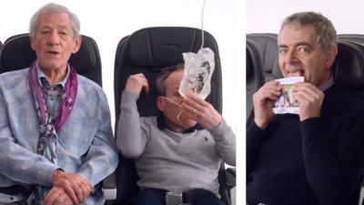 Cum să fii în siguranță în timpul zborului. Sfaturi de la Mr. Bean