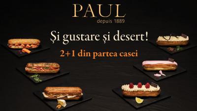Și gustare şi desert! Brutăriile Paul reinventează gama Éclair Collection introducând, în premieră, noi sortimente de eclere dulci şi sărate