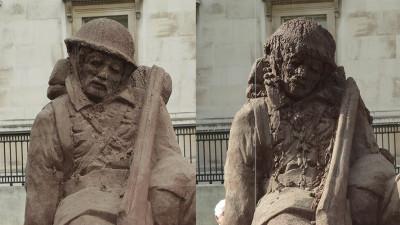 Ogilvy dizolvă un soldat în Trafalgar Square
