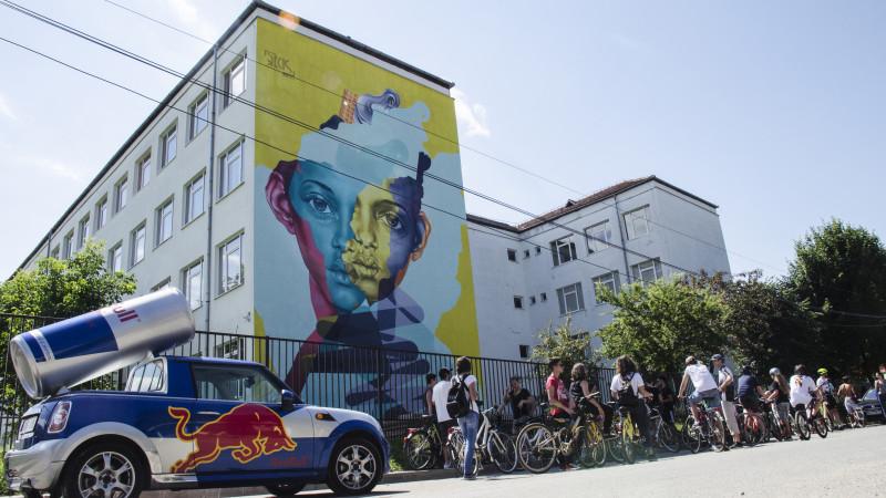A III-a ediție Sibiu International Street ART Festival lasă în urmă peste 1.400 metri pătrați de picturi murale