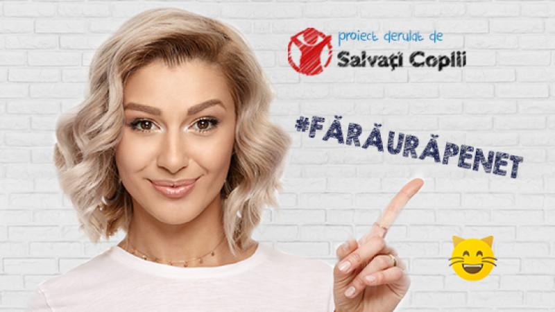 Salvați Copiii, Kubis și vedetele românești (se) poartă #FărăUrăPeNet