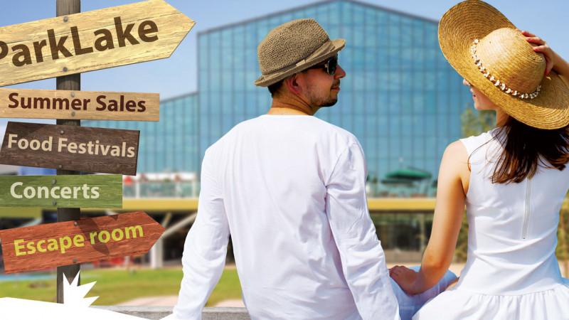 În iulie și august, grădina ParkLake devine un spațiu de festival și vacanță