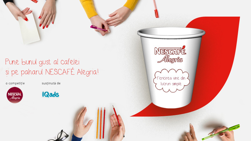 [Bunul gust NESCAFE Alegria] Arata-ne bunul gust al cafelei printr-un design si intra in competitia NESCAFE Alegria