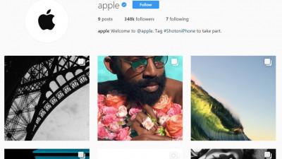 Uau, Apple descaleca pe Instagram