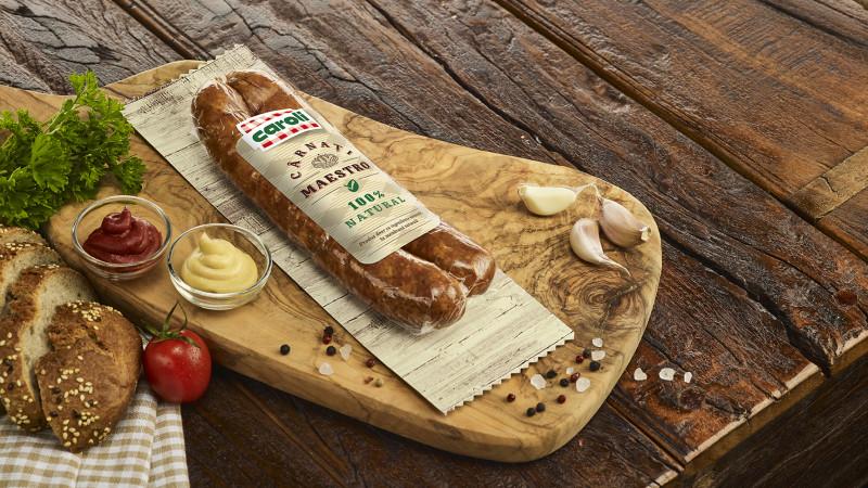 Premieră la nivel național: Caroli Foods Group lansează primul produs cu 100% ingrediente naturale: Cârnații Maestro de la Caroli