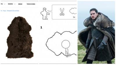 Fii propriul tău Jon Snow. Cu o păturică de la Ikea