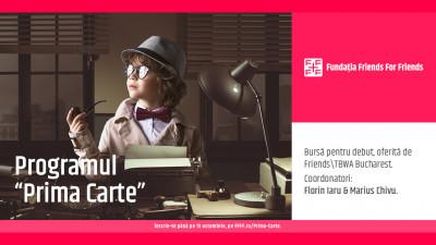 """Programul """"Prima Carte"""" – bursă pentru debut oferită de FFFF"""