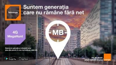 Orange şi Profero dau startul vânătorii de net în toate oraşele, cu aplicația 4G MegaHunt