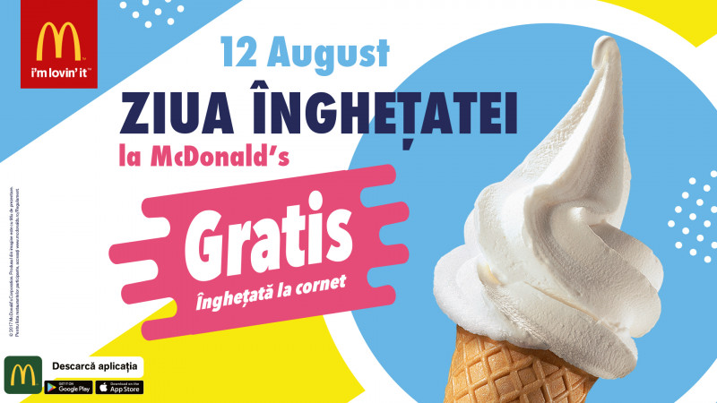 Ziua Înghețatei revine în toate restaurantele McDonald's din țară