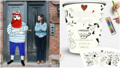 [Bunul gust NESCAFE Alegria] Edith Pojum a tratat designul de pahar cu biscuiti si inimioare