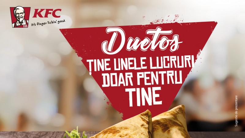 KFC aduce din nou Duetos - wrapurile pe care să le ţii doar pentru tine