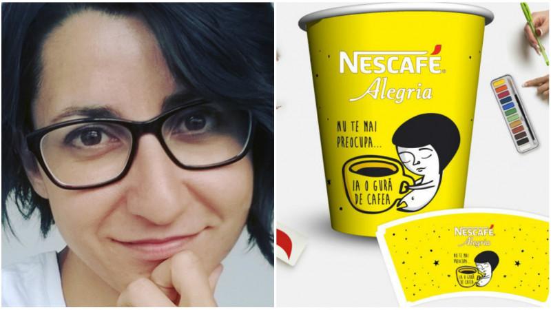 [Bunul gust NESCAFE Alegria] Pixie Dust, personajul Oanei Cambrea, pus pe paharul de cafea
