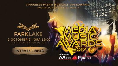 ParkLake găzduiește în premieră cea mai mare gală de premii muzicale din România - Media Music Awards