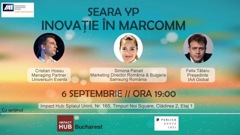 IAA Young Professionals organizeaza seara YP dedicata inovatiei in marketing si comunicare
