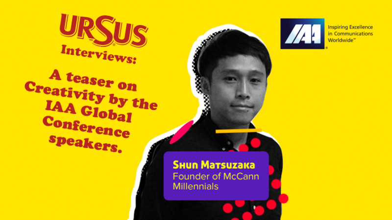 """A teaser on Creativity by Shun Matsuzaka presented by Ursus. """"Creativity is a lifetime subject to learn and improve. I make robots and AIs to enhance creativity, not to replace it"""""""