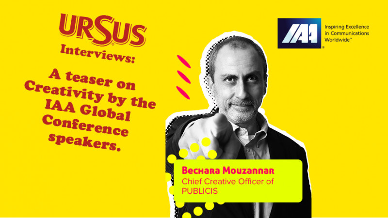 """A teaser on Creativity by Bechara Mouzannar presented by Ursus. """"A few branded campaigns impacted society so positively that these brands became landmarks in the people's lives"""""""
