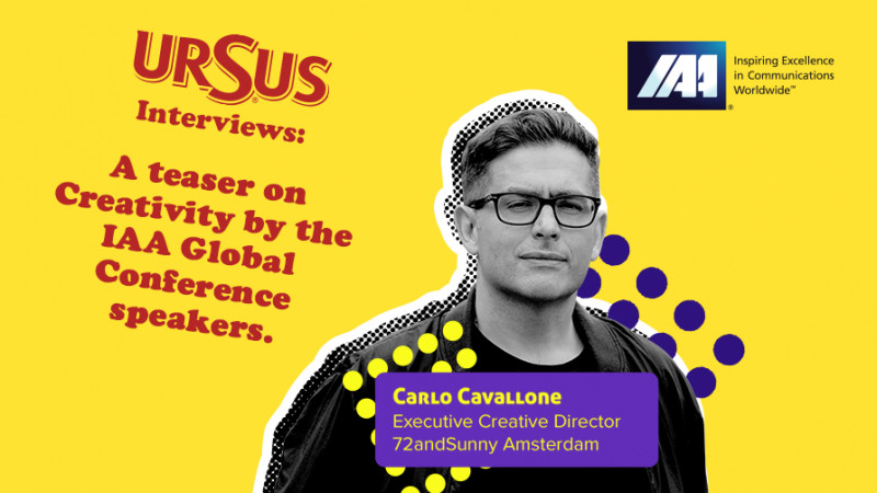 """A teaser on Creativity by Carlo Cavallone presented by Ursus. """"You feed your creativity by exposing yourself to culture and experiences; you train it by constantly making and doing things"""""""