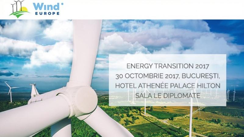 RWEA și WindEurope organizează Energy Transition 2017