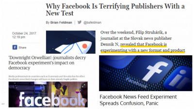 Facebook face experimente pe oameni. Dar mai ales pe jurnaliști