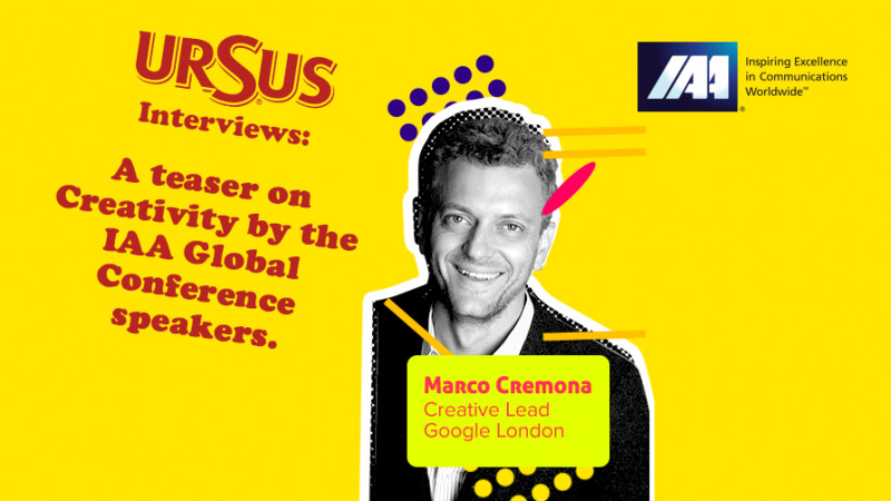 """A teaser on Creativity by Marco Cremona presented by Ursus. """"Succeeding in advertising without studying is like trying to play the piano without knowing the notes: it can be done but it requires pure genius"""""""