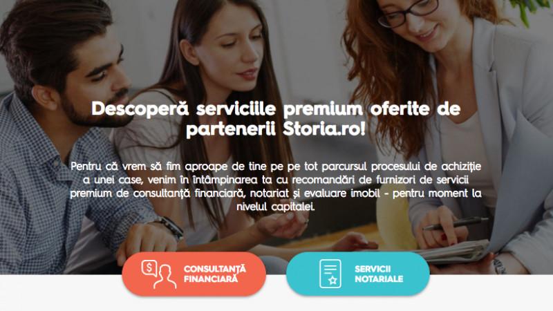 Storia.ro lansează pe teritoriul Capitalei un pachet de servicii premium de consultanță financiară și notarială, pentru persoanele care vor să-și cumpere o locuință