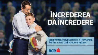 BCR susține echipa olimpică a României alături de Cohn&Jansen JWT