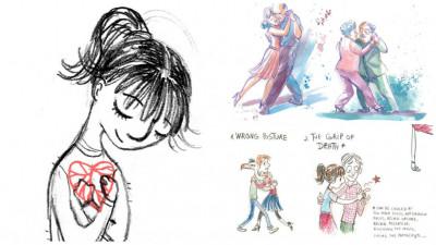 """[Octombrie in tus] Ileana Surducan dansează și desenează: """"E mult mai important să desenezi ceva – orice, decât să te paralizeze căutarea subiectului perfect, sau a inspirației, sau a chefului"""""""