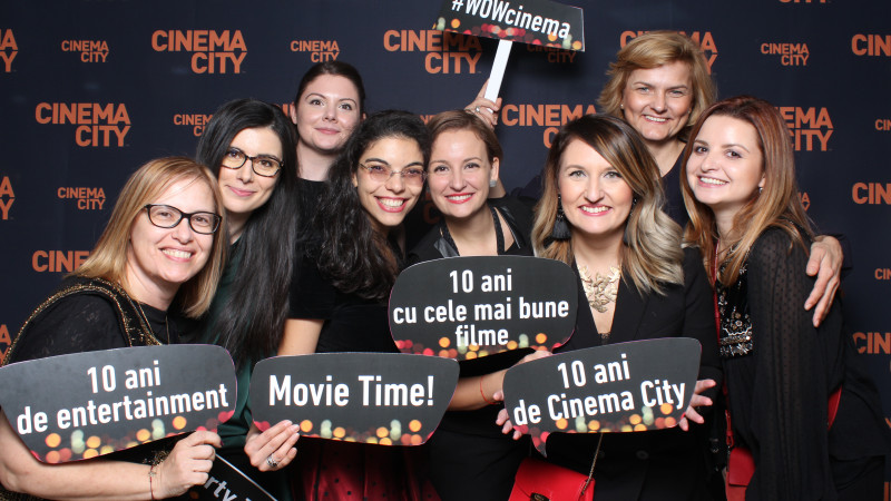 10 ani de experienţe cinematografice wow cu Cinema City