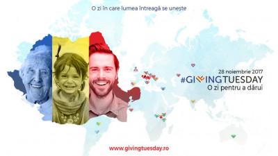 Giving Tuesday – o zi pentru a dărui se sărbătorește pe 28 noiembrie și în Romania