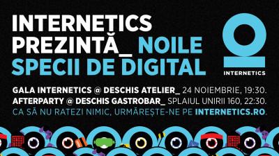 Internetics 2017 dă întâlnire creativilor la Gala de Premiere din 24 noiembrie