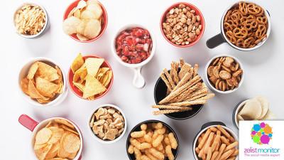 Cele mai vizibile branduri de snacks in online si pe Facebook in luna octombrie 2017