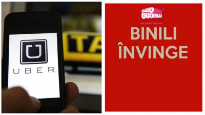 Taximetristii taxeaza Radio Guerrilla, Uber se alege cu reclama gratis, un baiat pe nume Marius regreta totul
