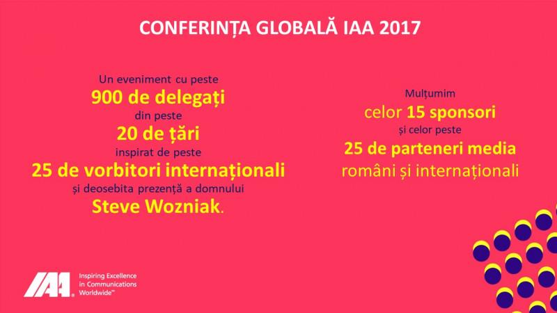 """IAA România aduce cea mai bună inspirație internațională în România și în 2018, prin cea de-a doua ediție a Conferinței Globale IAA """"Creativity 4 Better"""""""