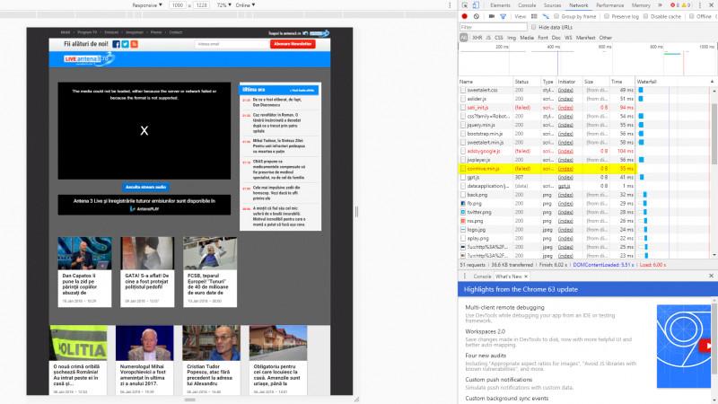 Antena3.ro mineaza dupa criptomonede, fara stiinta utilizatorilor. [Update] Conform declaratiilor publisherului, Antena3.ro a fost atacat